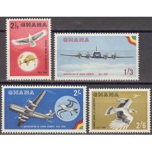 Ghana - linnud ja lennukid 1958, **
