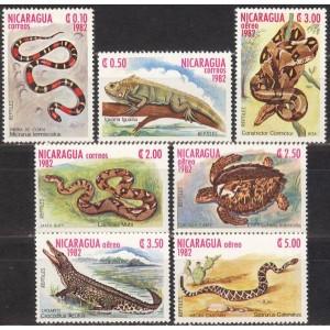 Nicaragua - roomajad ja kahepaiksed 1982, **