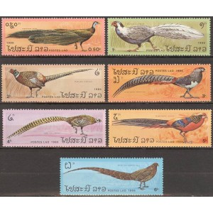 Laos - linnud, faasanid 1986, **
