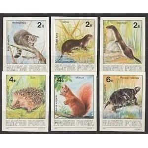 Ungari - loomad 1986, MNH lõigatud
