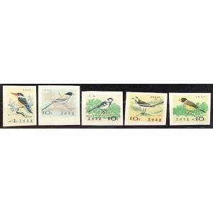 Põhja-Korea - linnud 1965, lõigatud **