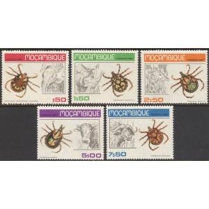 Mosambiik - putukad ja loomad 1980, **