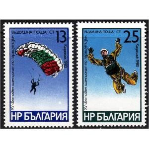 Bulgaaria - langevarjusport 1980, **