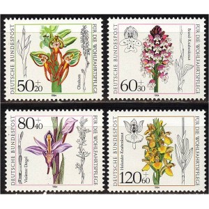 Saksamaa - lilled, orhideed 1984, **
