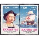 Tšiili - C.Kolumbus ja purjelaev 1989, **