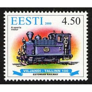 Eesti - 2000, 100 a. kitsrööpmelist raudteed, **
