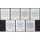 Eesti - 1993-1997,  vapp 10s ja 50s - 7 tk, **