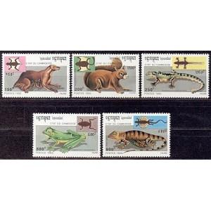 Kampuchea - loomad ja kahep. 1993, **