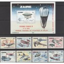 Zaire - lennukid, lennunduse ajalugu 1978,  **