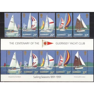 Guernsey - purjetamine, purjekad 1991, **