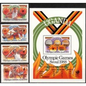Uganda - Seoul 1988 olümpia ületrükk, **