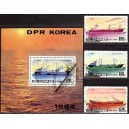 Põhja-Korea - laevad 1984, templiga