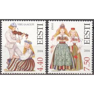 Eesti - 2004 Virumaa rahvariided, **