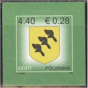 Eesti - 2006 Põlvamaa vapp, **