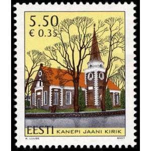 Eesti - 2007 Kanepi kirik, **