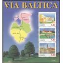 Eesti - 1995 Via Baltica, plokk **