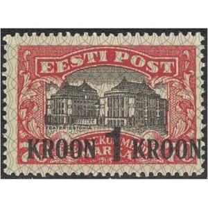 Eesti 1930, ületrükk 1 kroon, puhas (MLH) *