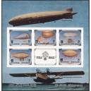 Põhja-Korea - zeppelinid 1982, lõigatud plokk**