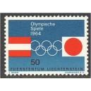 Liechtenstein - Innsbruck ja Tokyo 1964, **