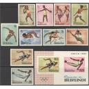 Burundi - Tokyo 1964 olümpia, lõigatud **