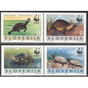 Sloveenia - fauna WWF, kilpkonnad 1996, **
