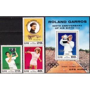 Põhja-Korea - tennis olümpial 1987, **
