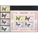 Malawi - liblikad 1966, **