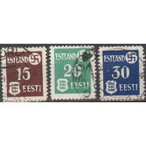 Eesti 1941, haakrist ja Eesti vapp (II), templiga
