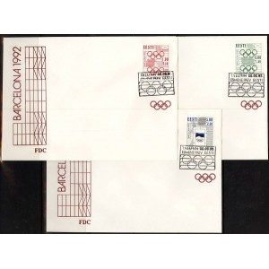 Eesti - Barcelona 1992 olümpia, FDC **