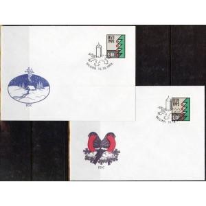 Eesti - Jõulud 1992 (fluorest.), FDC **