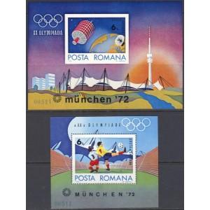 Rumeenia - München 1972 olümpia, plokid **