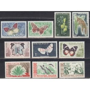 Madagaskar - liblikad ja lilled 1960, **