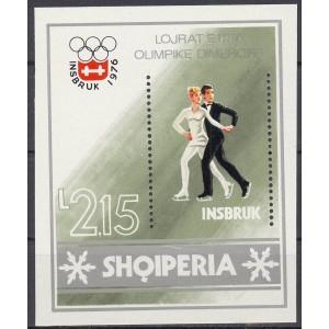 Albaania - Innsbruck 1976 olümpia, plokk **