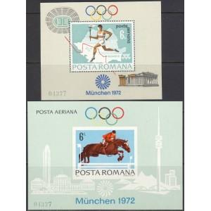 Rumeenia - München 1972 olümpia I, plokid **