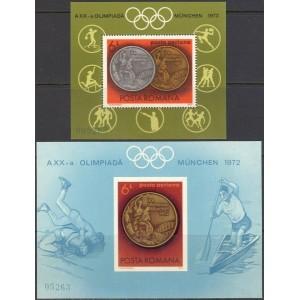 Rumeenia - München 1972 olümpia III, plokid **