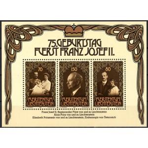 Liechtenstein - Franz Josef II 75 1981, **