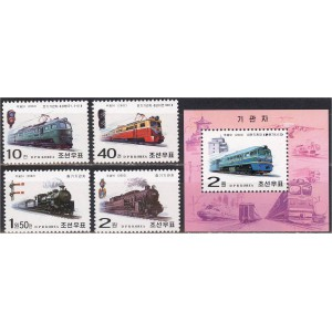 Põhja-Korea - rongid, vedurid 2002, **