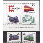 Põhja-Korea - rongid, vedurid 1996, **