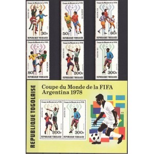 Togo - Argentiina ´78 MM, puhas (MNH)