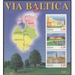 Eesti 1995, Via Baltica, plokk  (erim - punane kriips) **