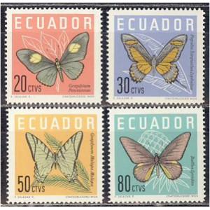 Ecuador - liblikad 1961, **