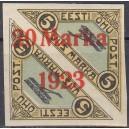 Eesti 1923, Õhupost ületrükk 20m, (telliskivip.) I *