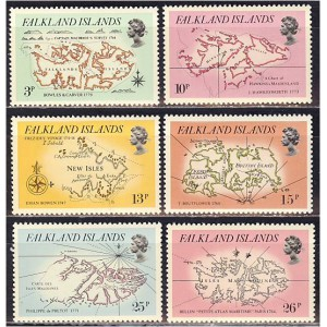 Falkland Islands - maakaart 1981, **