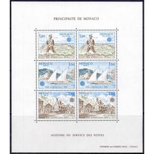 Monaco - Europa, postipoiss, purjekas, rong 1979, **