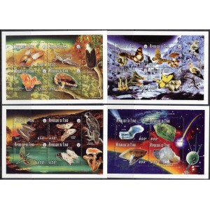 Tchad - liblikad, linnud, seened, mineraalid 1996, **