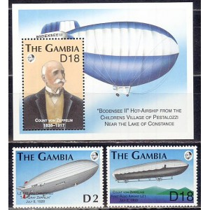 Gambia - zeppelinid 1993 (I), **