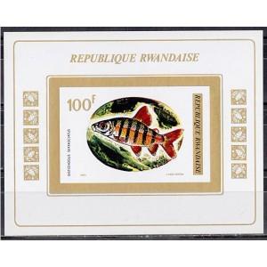 Tchad - kalad 1973, lõigatud plokk **