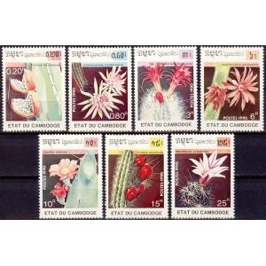 Kampuchea - lilled, kaktused 1990, **