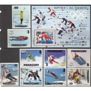 Paraguay - Lake Placid 1980 olümpia III, **