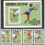 Sierra Leone - jalgpalli MM, Mexico 1986, **